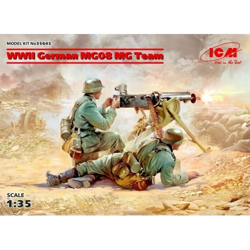 1/35 ICM German machine gun calculation with MG08, World War II 35645