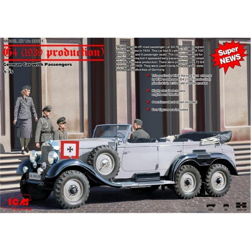 1/35 ICM G4 (1939 production), German Car with Passengers 35531