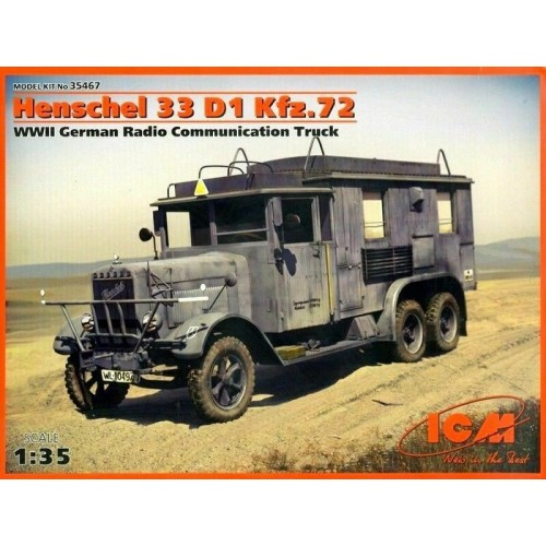 1/35 ICM  Henschel 33 D1 Kfz.72 WWII German Radio Communication Truck 35467