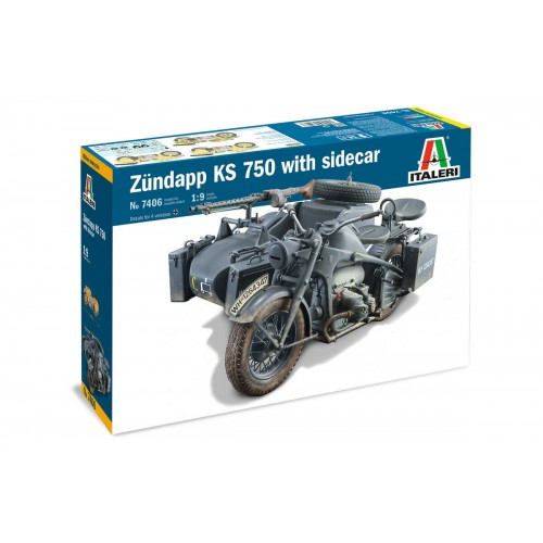 Italeri 1/9 ZUNDAPP KS 750 with Side Car 7406
