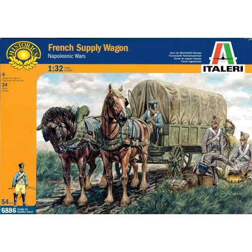 1/32 Italeri  French Supply Wagon 6886