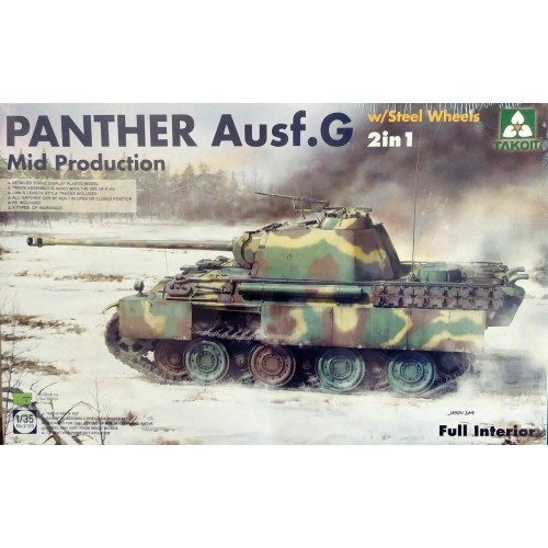 1/35 Takom  Panther G Mid Production w/Steel Wheels & Interior 2 in 1 2120