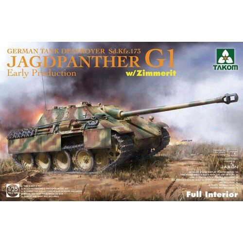 1/35 Takom Jagdpanther G1 Early Sd.Kfz.173 w/Zimmer/full interior kit 2125