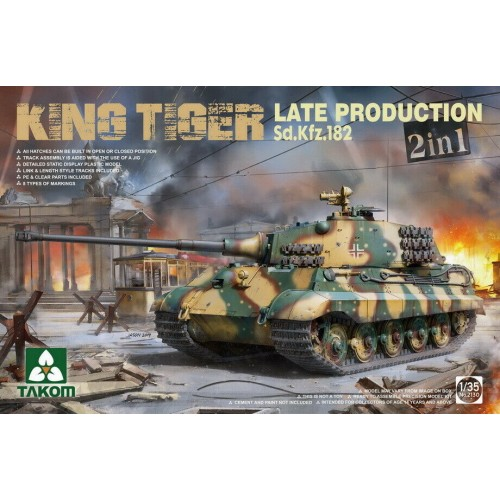 1/35 Takom WWII German Heavy Tank SdKfz.182 King Tiger Late Production (2 in 1) without interior 2130