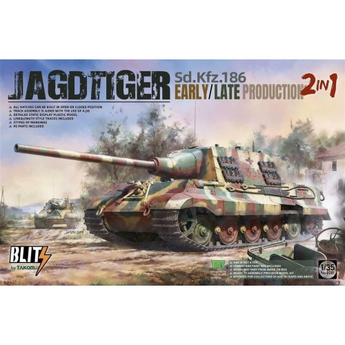 1/35 Takom SdKfz.186 Jagdtiger Early/Late Production [2 in 1] 8001
