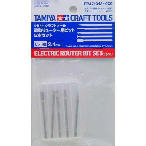 Tamiya Craft Tools Electric Router Bit Set (5 pcs) 74043