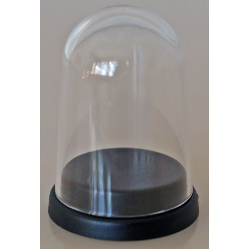 PLASTIC DISPLAY DOME WITH BLACK BASE. Perfect to Display 22mm Subbuteo Balls & Single Figures.