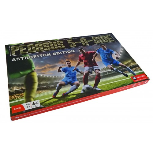 THE PEGASUS 5-A-SIDE INDOOR EDITION BOX SET. Includes: The Pegasus Astroturf, Goals, A Ball, Rules & Two 5-A-Side Teams.