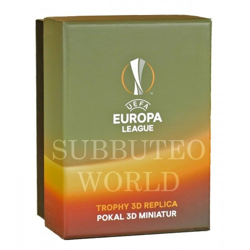 THE UEFA EUROPA LEAGUE TROPHY. 80mm High With Display Box. Official Licensed Replica Trophy.