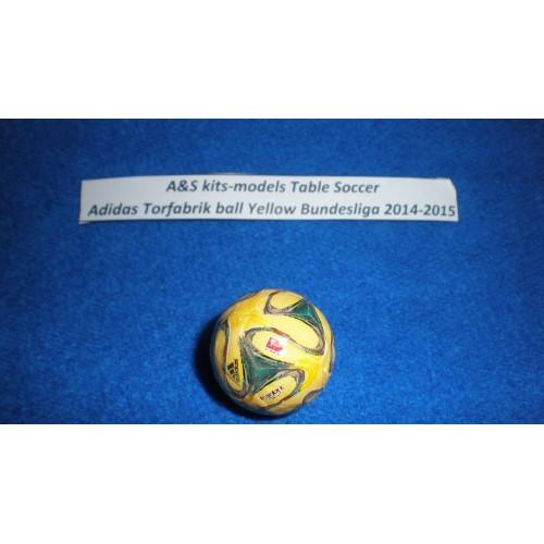 A&S Table Soccer Adidas Torfabrik Yellow Bundesliga A Official ball 2014-2015