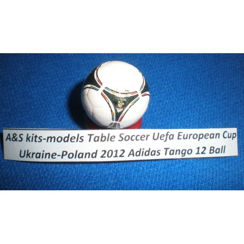 A&S kits-models Table Soccer Ball Adidas Tango 12 Uefa European Cup Ukraine-Poland 2012 Handpainted