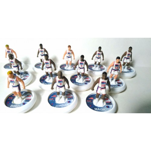 Subbuteo Andrew Limited edition U.S.A Basketball Olympic Games 1982 DREAM TEAM on Hermes Pro Bases