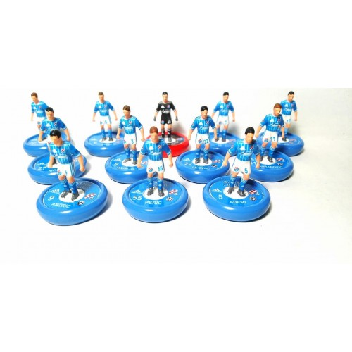 Subbuteo Andrew Table Soccer Dynamo Zagreb 2019-2020 Champions League kit on Zeus Pro bases