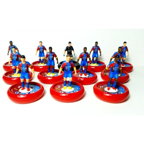 Subbuteo Andrew Table Soccer Crystal Palace 2018-19 on Zeus Pro Bases
