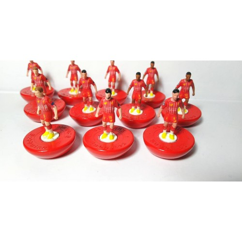 Subbuteo Andrew Table Soccer Liverpool 2019-20 on Classic Hasbro Bases