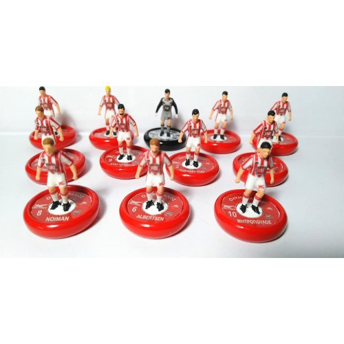 Subbuteo Andrew Table Soccer Olympiacos 1983-84 on Aeolus or Zeus Pro Bases