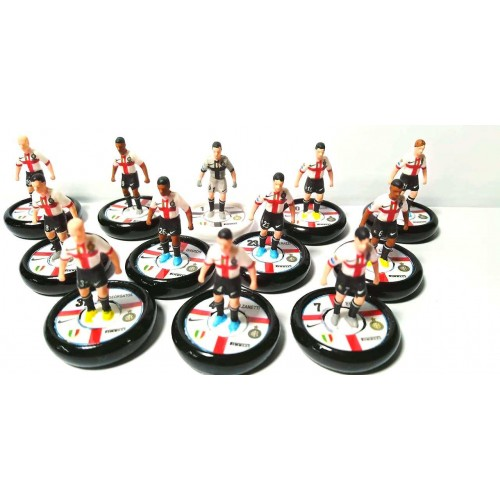 Subbuteo Andrew Table Soccer Internazionale Milano 2007-08 Anniversary kit on Zeus Professional bases