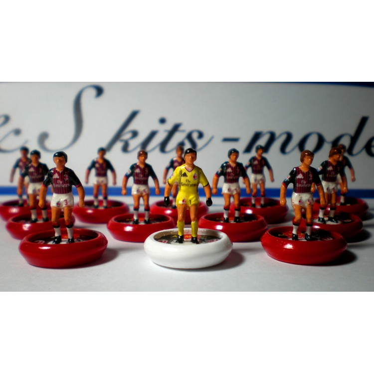 Subbuteo Andrew Table Soccer AC Milan 2016-2017 with Lightweight Figures  and Hermes Pro Bases handmade