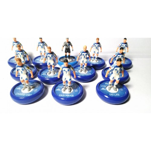 Subbuteo Andrew Table Soccer Greece (Hellas)2004 European Champions Final Team on Aeolus Pro bases