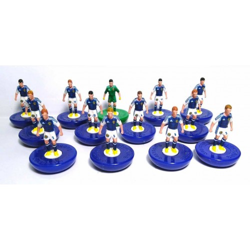 Subbuteo Andrew Table Soccer Scotland 2018 on classic Hasbro bases