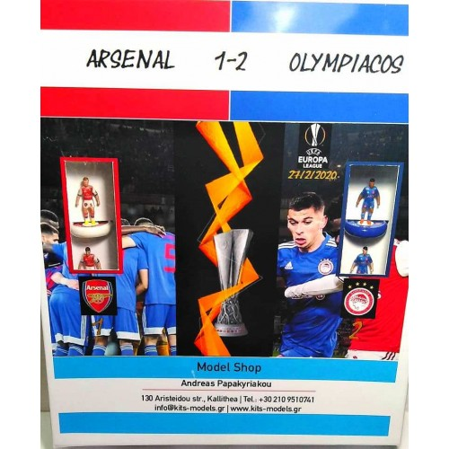 Subbuteo Andrew Table Soccer Arsenal-Olympiacos 1-2 Europa League 2019-20 game on WSB Professional bases